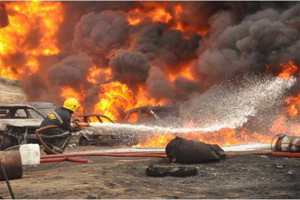 Accident In Abuja As Tanker Kills One, Crushes 3 Cars And A Motorbike Was Involved