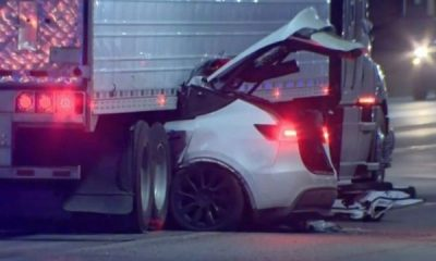 Tesla Likely On Autopilot Crashed Under A Moving Trailer, Dragged For Miles - autojosh