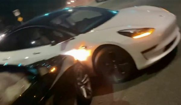 TeslaCam Proves Who's At Fault During A BMW Tesla Model 3 Crash - autojosh