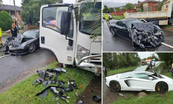 Two Supercars, Lamborghini Aventador And Porsche 911 Turbo, Rented For Wedding, Crash During Storms - autojosh