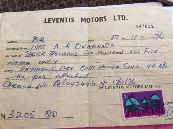 Who We Offend? Nigerian Journalists Ruth Reacts To Receipt Of Honda Civic Worth Just N3,205 In 1976 - autojosh