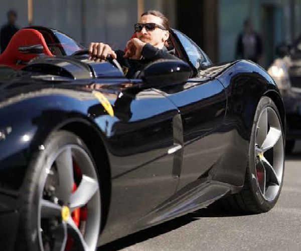 Zlatan Ibrahimovic Met 50 Yr Old Girlfriend During Angry Row After His Ferrari Blocked Off Her Mercedes - autojosh