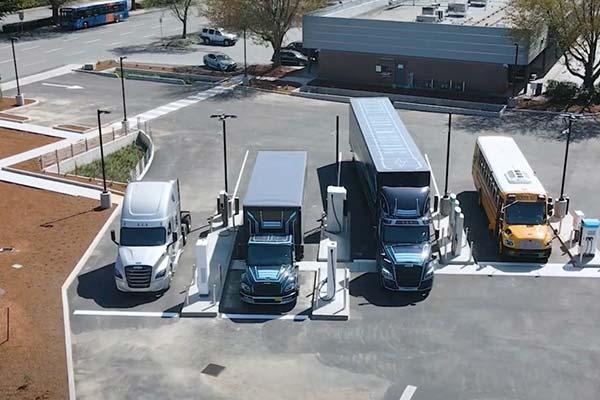 Daimler Unveil Electric Island, The First Charging Site Designed For Big Trucks - autojosh