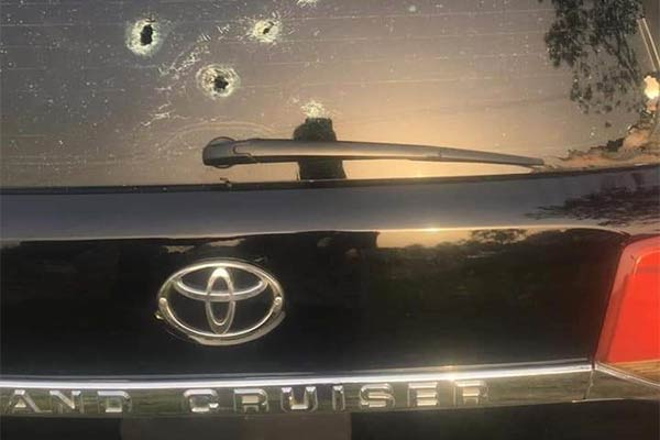Delta State Businessman, Olorogun Henry Ovuoke Attacked By Gunmen, His Toyota SUV Riddled With Bullets - autojosh