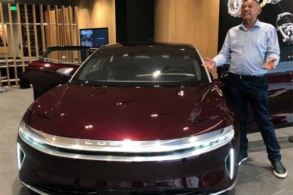 Ben Bruce Purchases The Lucid Air Electric Sedan, Calls For Ban Of Petrol Cars By 2035
