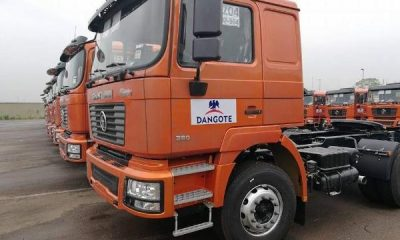 Dangote Takes Delivery Of Additional 400 Shacman Trucks Assembled At Enugu Plant - autojosh