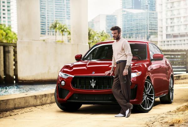 Man U Legend David Beckham Becomes Maserati Ambassador, Does Donuts With Levante Trofeo SUV - autojosh