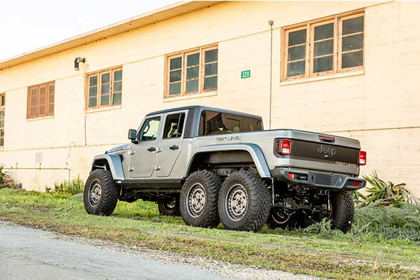 Next Level Turns A Jeep Gladiator Pickup Truck Into a 6x6 Beast