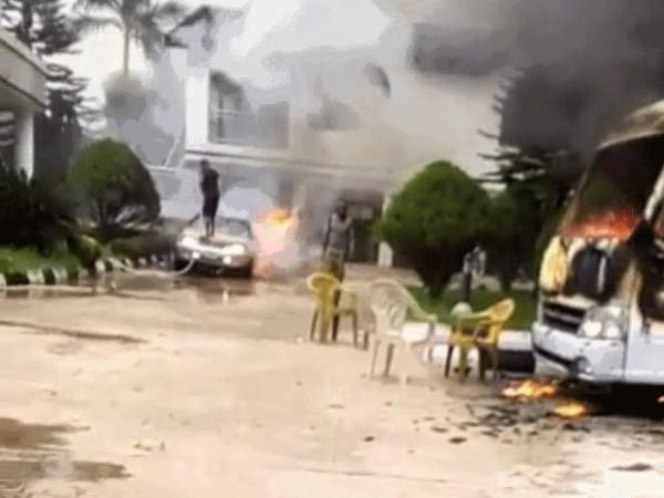 Hope Uzodinma's Rolls-Royce Phantom Burnt During Attack On Imo Governor's Residence - autojosh