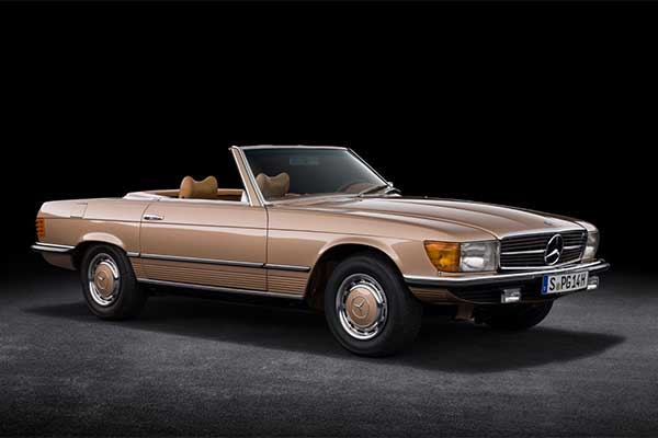 Mercedes-Benz 1st V8 Powered R107 SL Roadster Celebrates 50 Years
