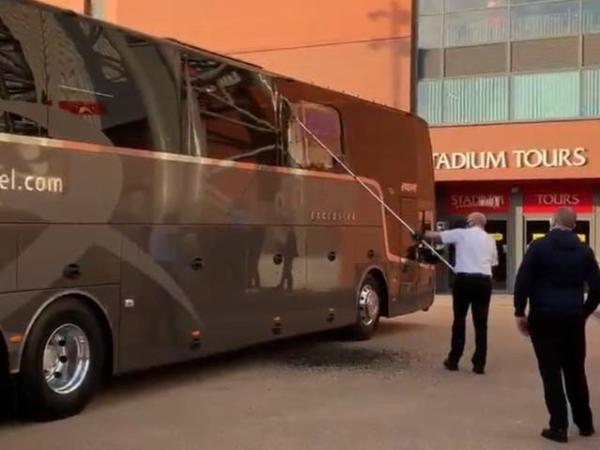 Real Madrid's Team Bus Damaged Ahead Of Champions League Clash Against Liverpool At Anfield - autojosh