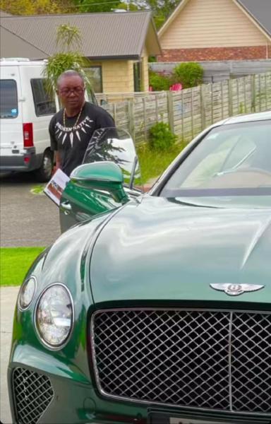 UFC Star Israel Adesanya, Buys Dad Brand New Bentley Continental GT - autojosh
