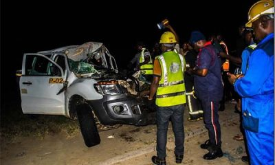 Accident Claims 7 Lives After A Lexus SUV Rammed Into Truck On Lekki-Epe Expressway - autojosh