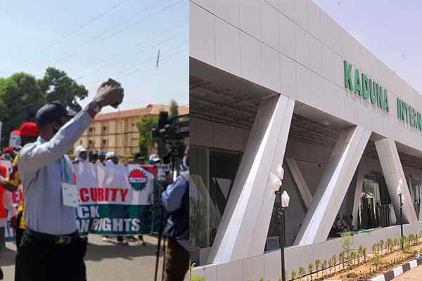 Kaduna Airport Shut Down As NLC Protest Members' Sack - autojosh
