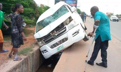 No Lives Lost As Bus Owned By Joint National Association of Persons With Disabilities (JONAPWD) Loses Control In Anambra - autojosh