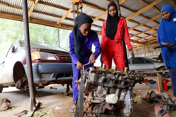 Pictorial Happening At The Recently Inaugurated First Female Auto Mechanic In Sokoto - autojosh