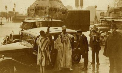 Alake of Abeokuta Arriving In Style At The Coronation Of King George VI In London In 1937 In A Rolls-Royce - autojosh