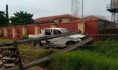 Police Recovers 3 Hilux Trucks Used By Gunmen Who Attacked INEC Office, Station In Anambra - autojosh