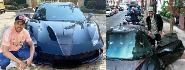 Arsenal's Aubameyang Turns Head With His New £400k Siracusa 4XX, A Mansory-tuned Ferrari 488 GTB - autojosh