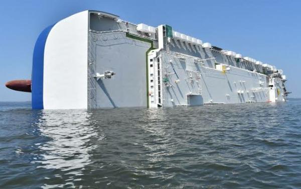 Capsized Cargo Ship Carrying 4,200 New Hyundai Cars Sliced Into Pieces And Raised - autojosh