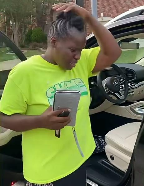 Reactions As Nigerian Lady Gift Her Mum Mercedes GLE SUV, $5k Cash - autojosh