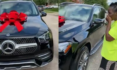 Reactions As Nigerian Lady Gift Her Mum Mercedes GLE SUV, $5k Cash - autojosh