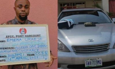 EFCC Arrests Human Organs Trafficker In PH, Recovers Lexus SUV, Phones - autojosh