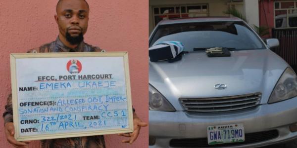 EFCC Arrests Human Organs Trafficker In PH, Recovers Lexus SUV, Phones - autojosh