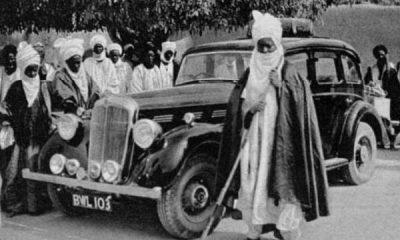Emir of Kano Abdullahi Bayero Posing With His Morris 8 Gift In 1935 - autojosh