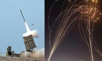 "Israel ""IRON DOME"" System Intercepting Multiple Inbound Missiles Fired From Palestine - autojosh"