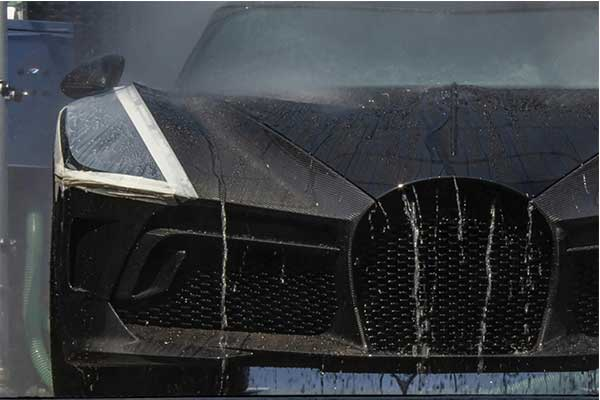 The 65,000 Hours Of Engineering Bugatti La Voiture Noire Finally Caught Testing In The Tracks