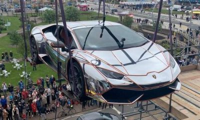 N328m Lamborghini Huracan Supercar Lifted By Crane Into A Night Club Set For Launch In June