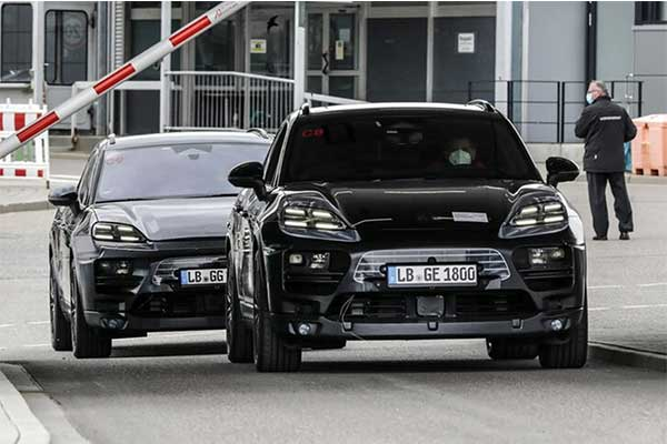 All Electric Porsche Macan Prototype Caught Testing, Slated To Have More Range Than The Taycan
