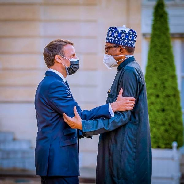 Muhammadu Buhari Arrives In Style At Elysee Palace In France In Audi A8 L Security Bulletproof Limousine - autojosh