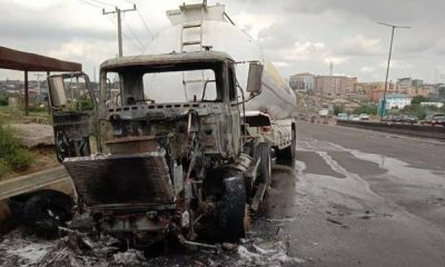 Again, Another Tanker Burst Into Flames On Otedola Bridge, Days After FRSC Insisted Accidents Not Caused By Demons - autojosh