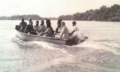 Throwback : Sir Ahmadu Bello On A Boat Cruise To Kainji Dam Site Before Construction Began In 1964 - autojosh