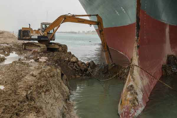 Cargo Vessel Ever Given That Blocked Suez Canal, Is Ground Again (PHOTOS)