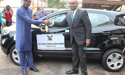 Coscharis Motors as the star prize to celebrate the 2021 Public Service Week