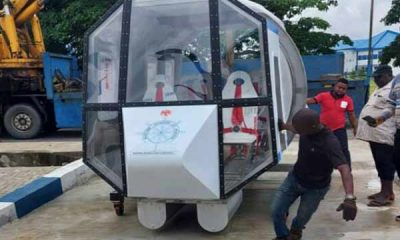 Maritime Academy of Nigeria (MAN) Takes Delivery Of Helicopter Underwater Escape Training Simulator - autojosh