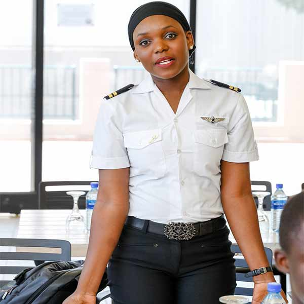 This is Caverton's First Female Helicopter Pilot From Katsina State (PHOTOS)