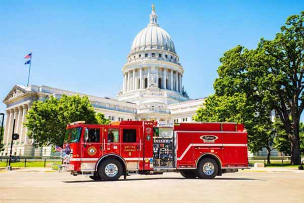 Madison Fire Department, Pierce Manufacturing, Oshkosh Airport Products Introduce First Ever All-Electric Fire Truck In North America (PHOTOS