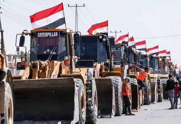 Israel Vs Palestine: Egypt Pledge $500m To Rebuild Destroyed Buildings, Rolls Bulldozers And Trucks Into Gaza - autojosh