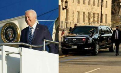 "Joe Biden Rolls $1.5m Cadillac Limousine ""The Beast"" Into UK On His First Foreign Trip - autojosh"