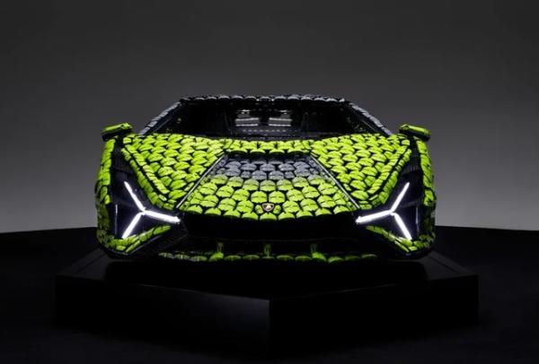 Life-size LEGO Lamborghini Sian Unveiled, Took 8,660 Hours To Make, Consists Of 400K LEGOs - autojosh