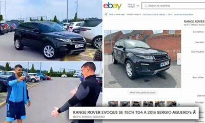 Man City Kit Man Puts Aguero's Range Rover Up For Sale On eBay Days After Winning It In A Raffle Draw - autojosh