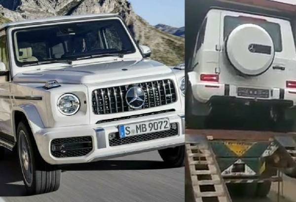 Man Begs As A Mercedes-Benz G-Wagon SUV Is Being Offloaded From A Truck - autojosh
