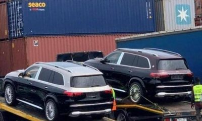 Two Mercedes-Maybach GLS 600 SUVs Spotted On Car-carriers At Lagos Port - autojosh