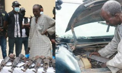 Police Arrest 60-Year-Old Man Conveying Rifles In Car Bonnet For Fulani Nomads - autojosh