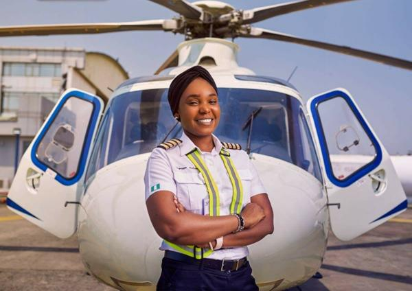 Meet Katsina State-born Caverton Helicopters' First Female Pilot, Ruqayya Suleiman - autojosh