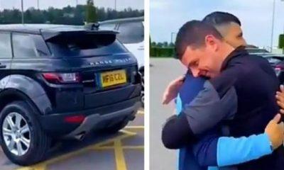 Moment New Barca Signing Sergio Aguero Gifted His Range Rover To Man City Kitman - autojosh